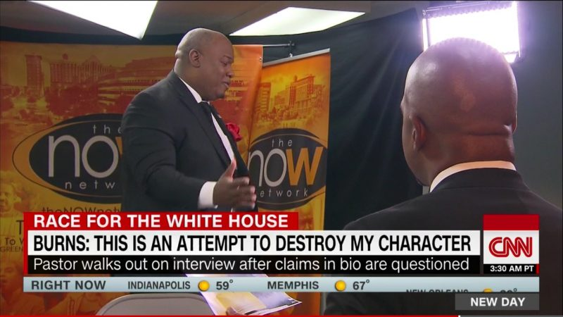 Pastor Mark Burns Walks Out Of Interview After CNN Busts Him For Lying About Bio