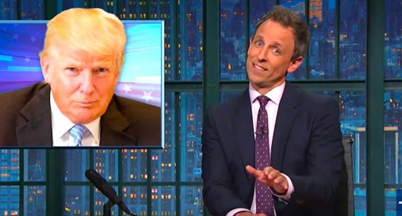 Seth Meyers: Donald Trump's Foundation Is 'Down To F You Over'