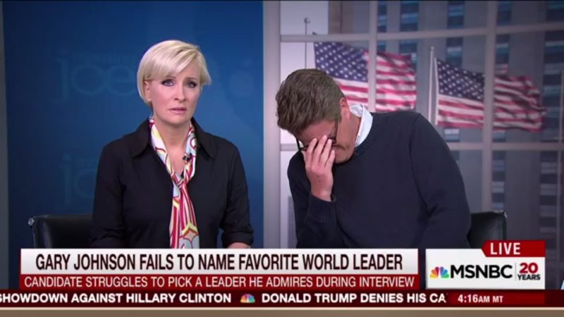 "Scarborough On Gary Johnson: ""You Can Smoke Pot And Listen To The Radio At The Same Time!"""
