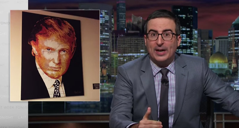 John Oliver: Donald Trump Is 'A Racist Scarecrow' And You Should Be 'F*cking Outraged'
