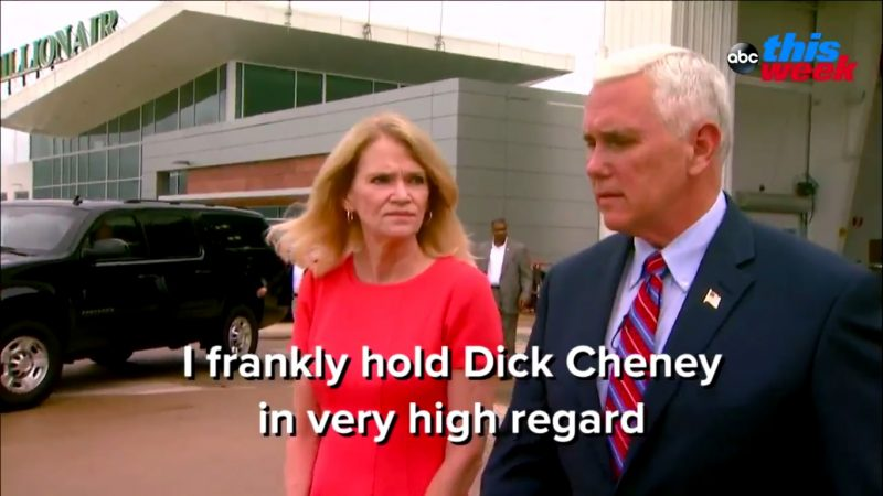 "Mike Pence On His Role Model For VP: ""I Frankly Hold Dick Cheney In Very High Regard"""