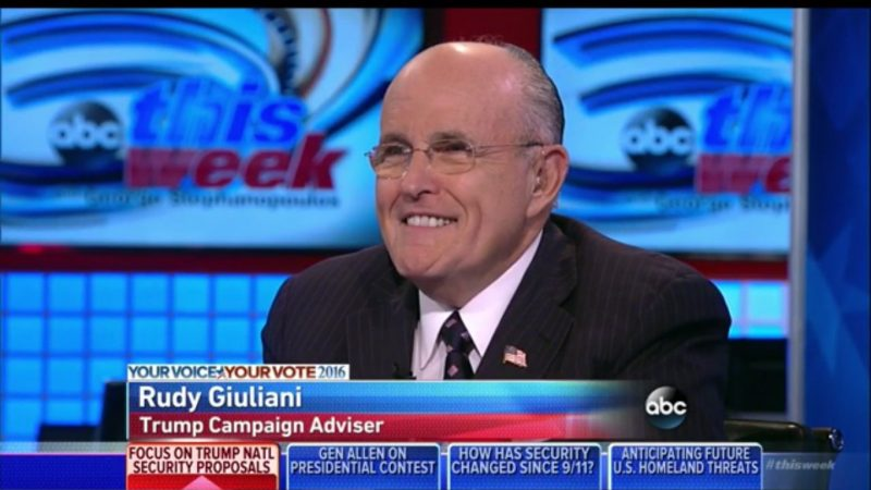 Rudy Giuliani Laughs About Taking Oil From Iraq, Says Anything Is Legal During A War