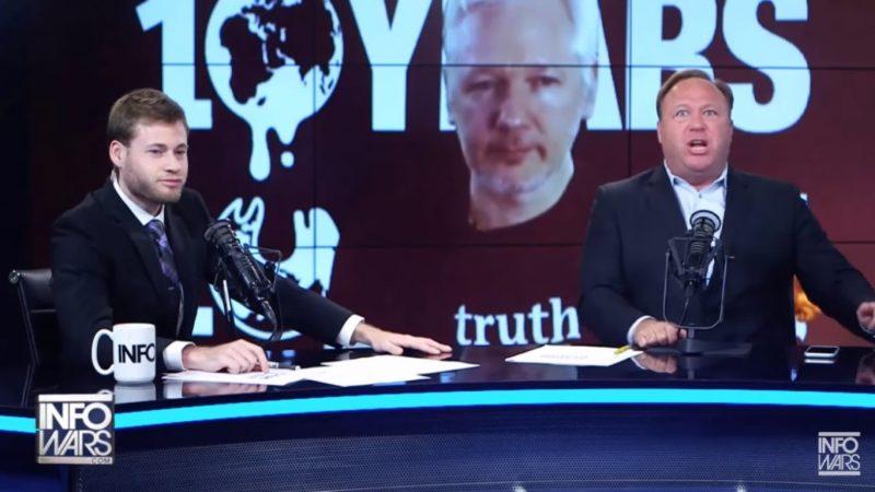 """Julian Assange Is A Hillary Butt-Plug"": Alex Jones Melts Down Over WikiLeaks Troll Job"