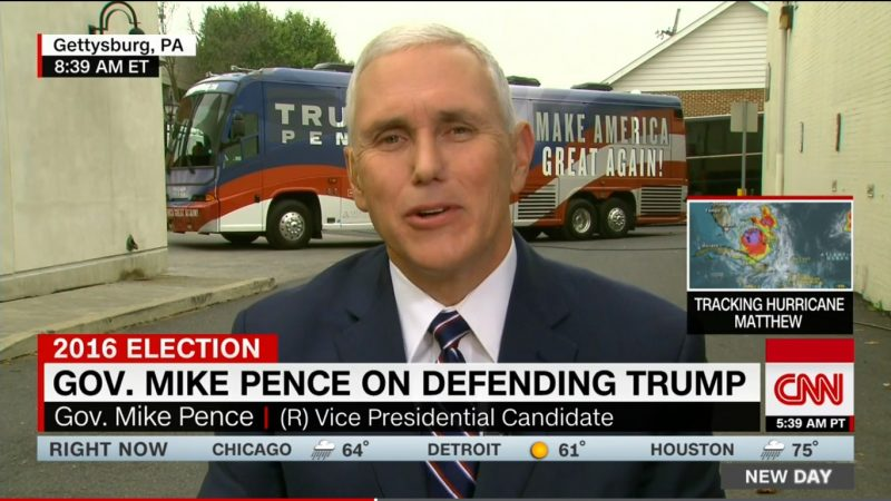 """""""He Didn't Choose His Words Well"""": Pence Insists Trump Doesn't Want To Impose Muslim Ban"""