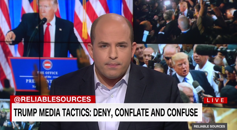 Deny, Conflate, Confuse: CNN's Brian Stelter Calls Out Trump's Media Strategy