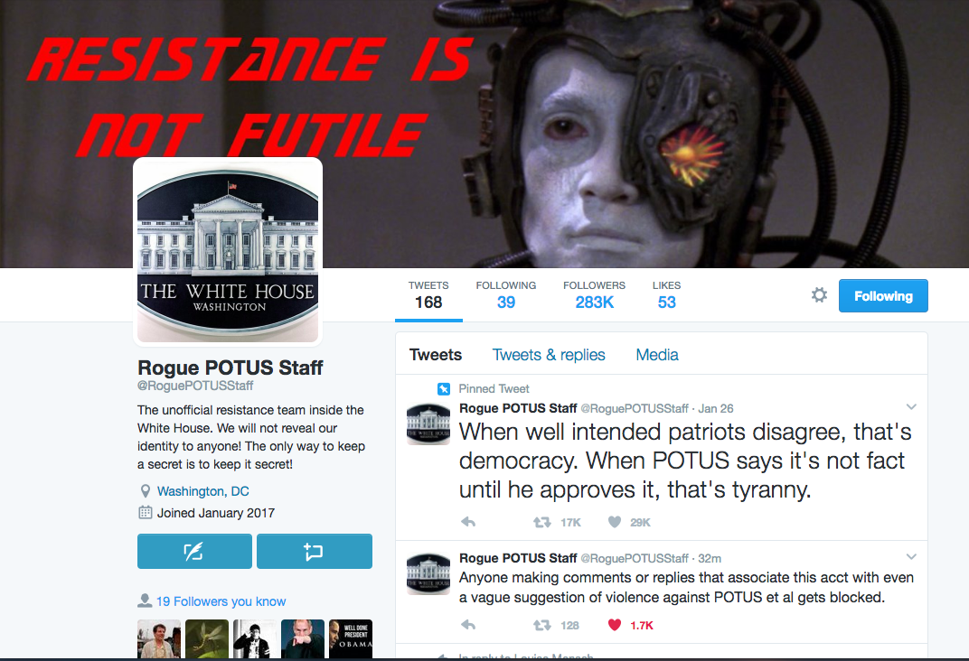 @RoguePOTUSSTAFF Is Alleging Stunning Details From The Inside