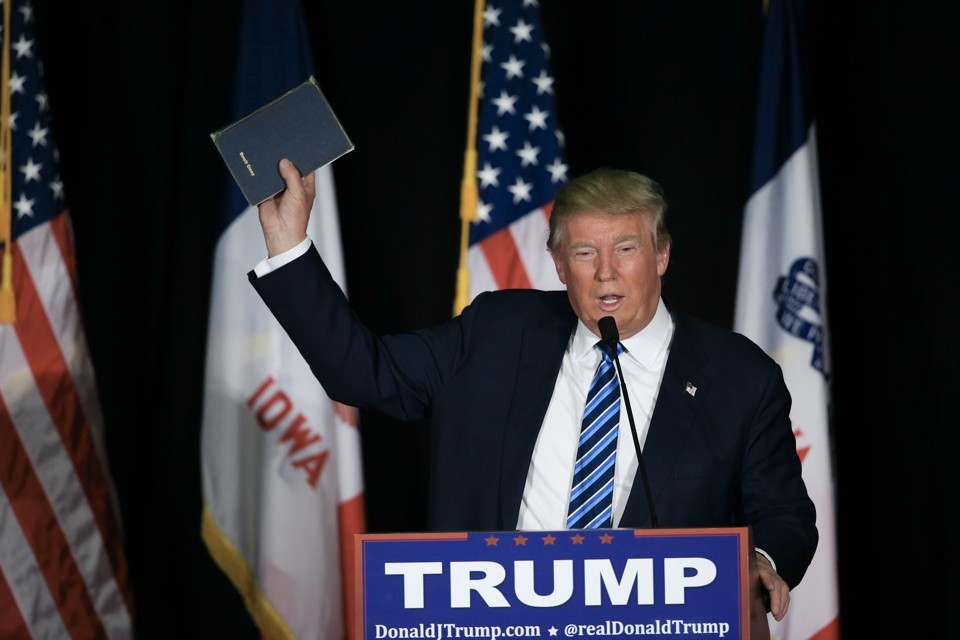 Trump Claims Biden Will 'Hurt the Bible, Hurt God'