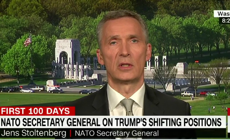 Wait, What?! NATO Head Says Trump Has Been 'Very Consistent' In Supporting NATO