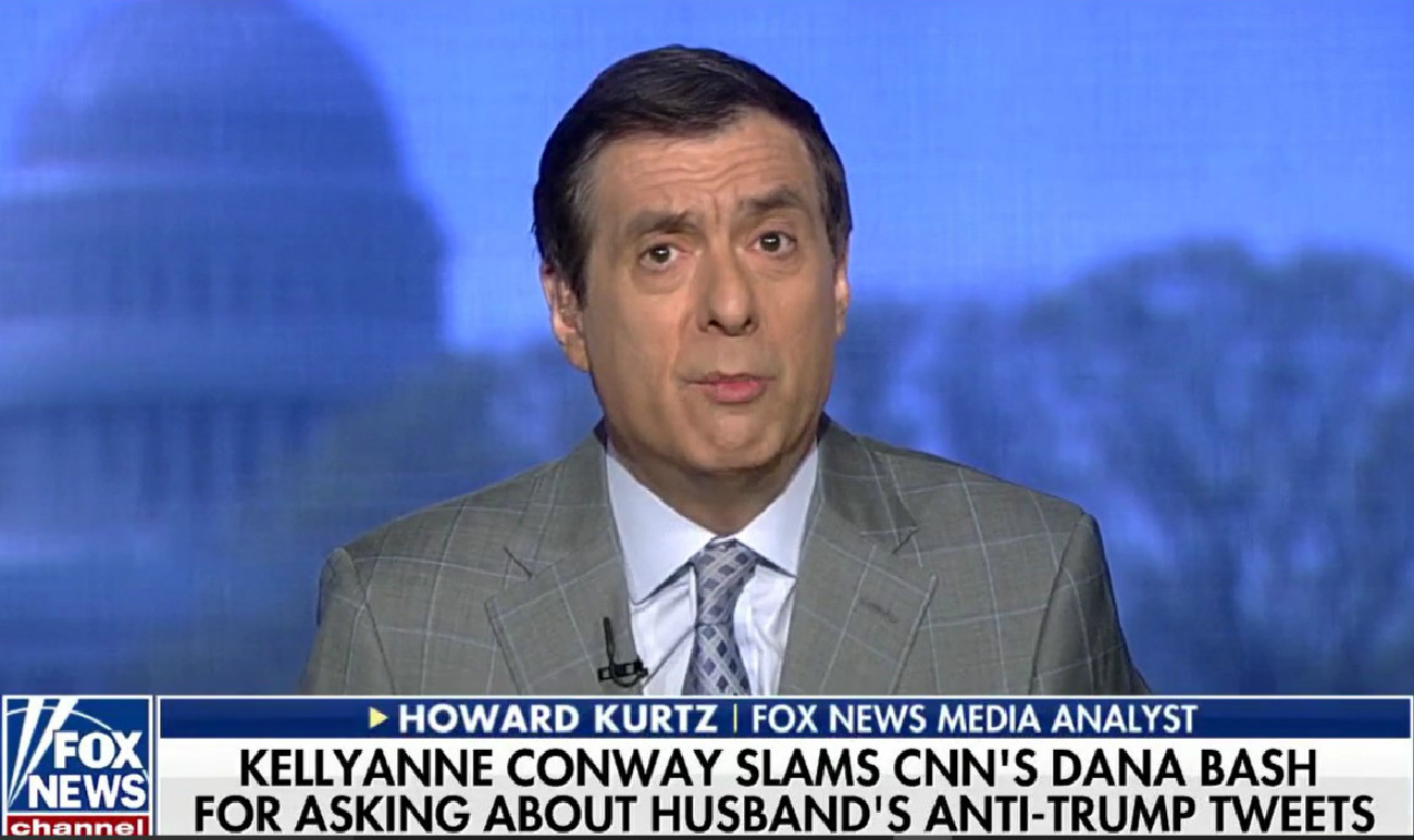 Fox News' Howard Kurtz: 'Out Of Bounds' For CNN Host To Ask Kellyanne Conway About Husband's Tweets