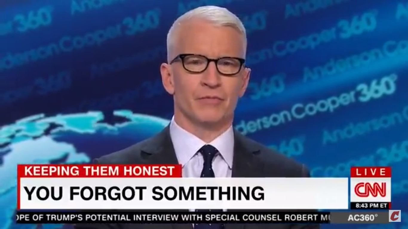 Anderson Cooper Calls Out Oliver North's 'Glaring Hypocrisy' For Blaming Shootings On 'Culture Of Violence'