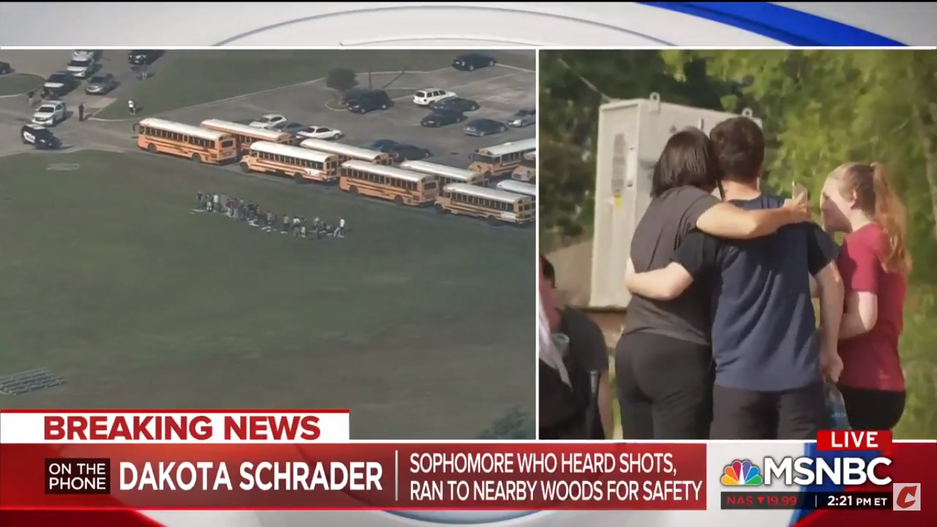 Santa Fe Shooting Survivor Tells MSNBC She's 'Never Going Back To That School'