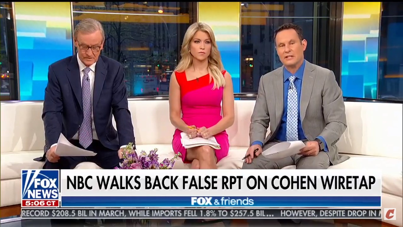 Fox News Host Apparently Thinks NBC Bungled Cohen Report Because They're Upset Trump's Creating Jobs