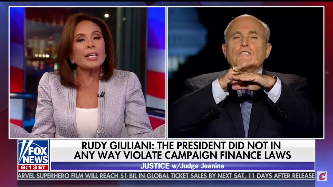 Watch Rudy Giuliani Stroke Himself Like A Cat While Saying 'Poor Little Hillary'