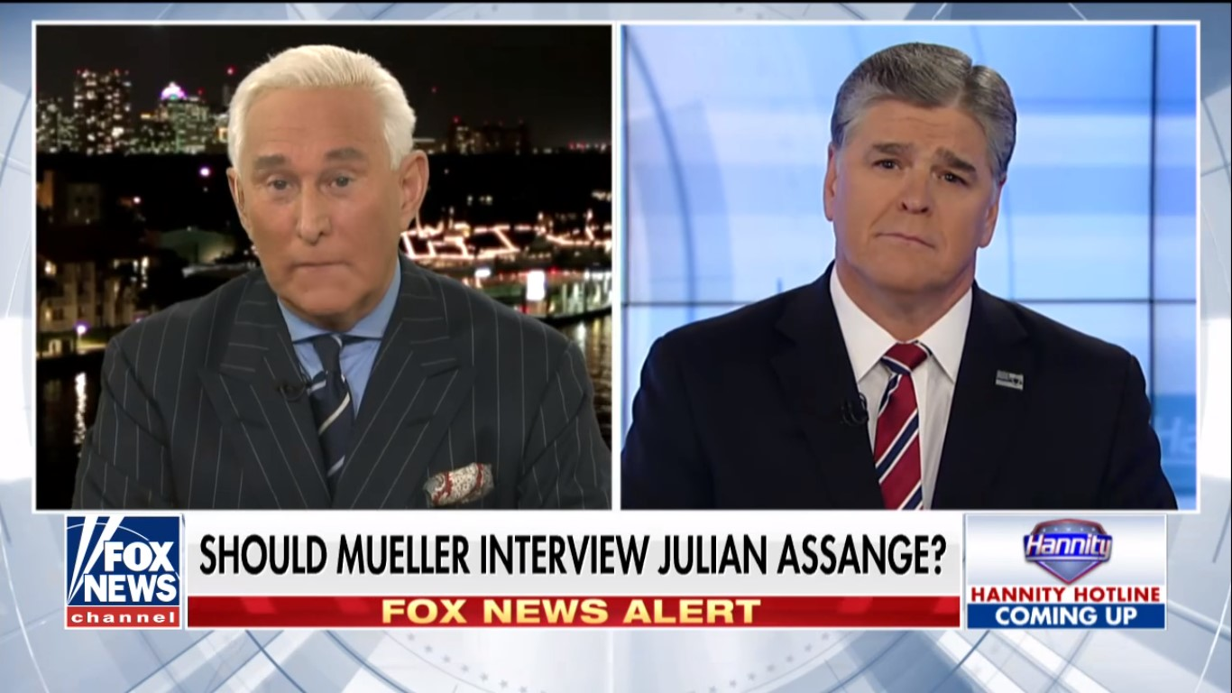 Remember When Hannity And Roger Stone Were Gushing Over 'Courageous' Julian Assange?
