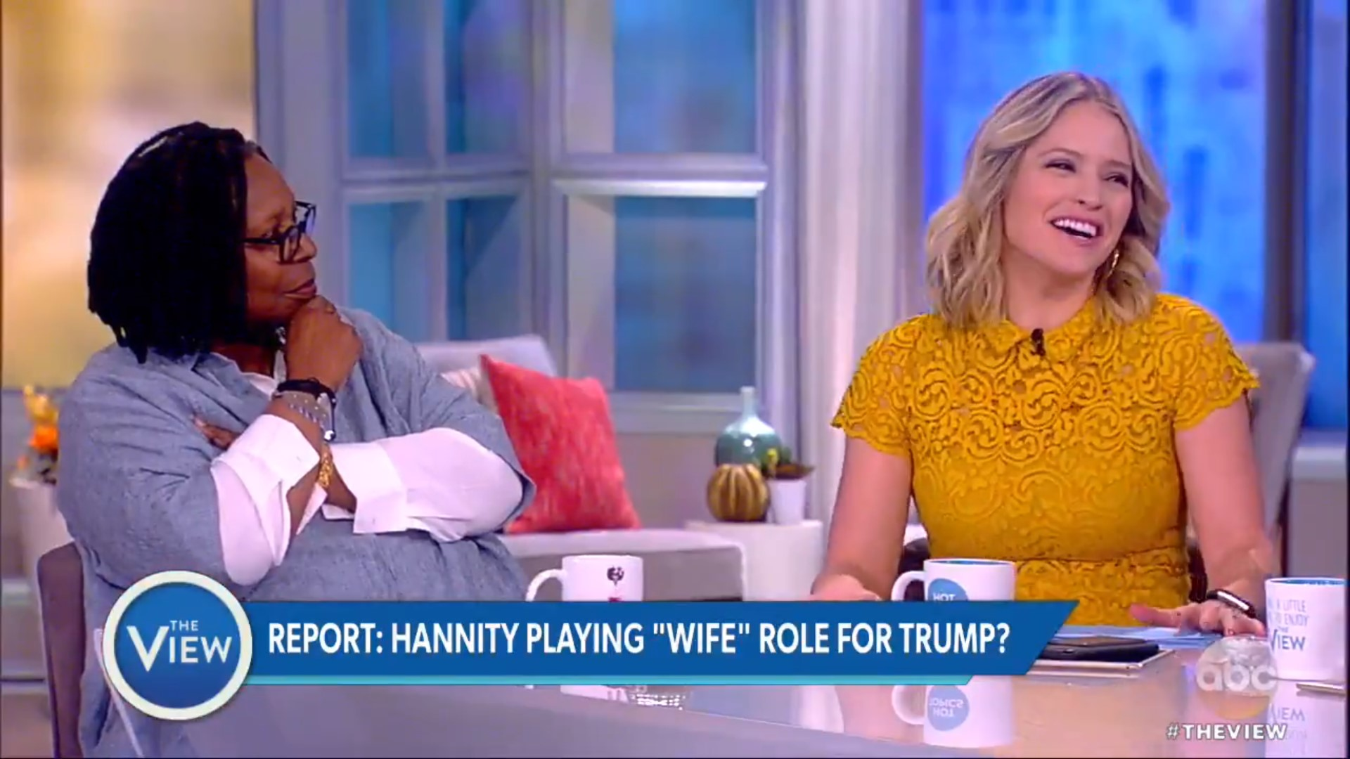 'The View' Hosts Crack Up Over Hannity's Late-Night Trump Calls: Sean Is Trump's 'Work Wife'