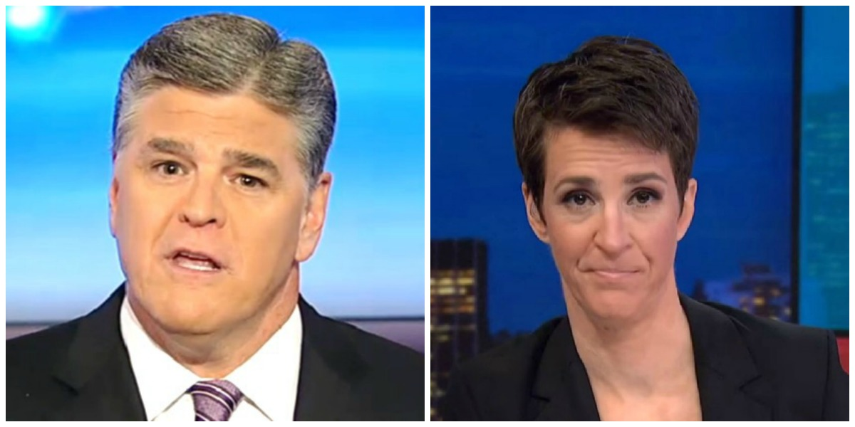 Hannity Edges Maddow In Total Viewers Thursday Night, Both Shows Tie For First In Demo
