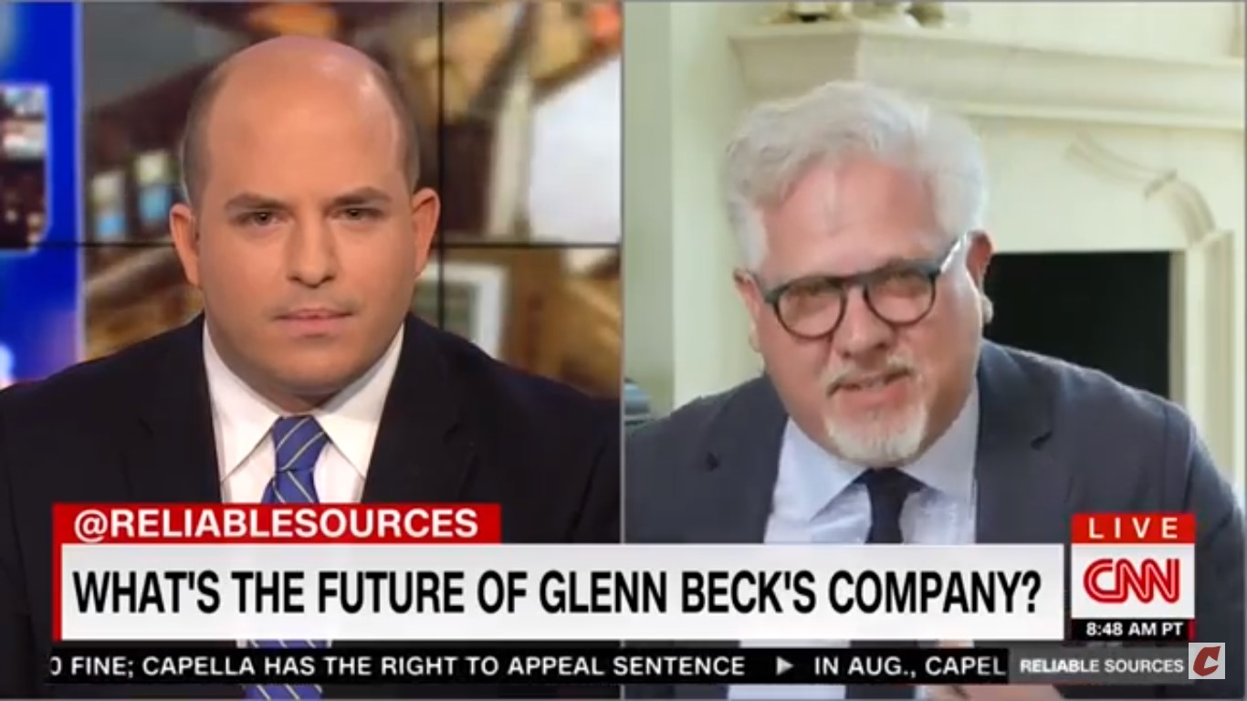 WATCH: Glenn Beck Walks Off After CNN's Stelter Asks Him About His Imploding Media Empire