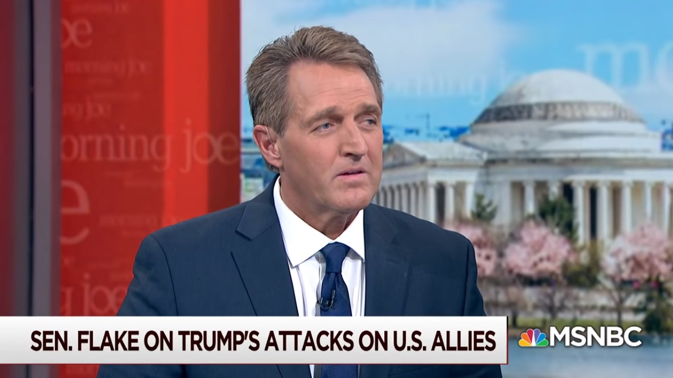 Jeff Flake Apparently Looking To Land Cable News Job After He Leaves Senate
