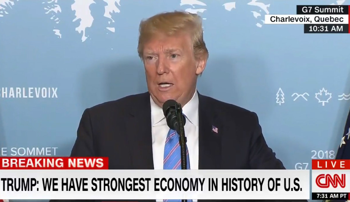 Trump Trashes CNN Reporter On Foreign Soil During Press Conference: 'Fake News CNN. The Worst'