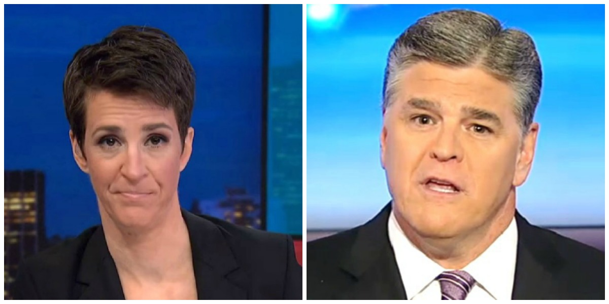 Maddow Most-Watched Show On Cable Wednesday Night, Hannity Finishes Third