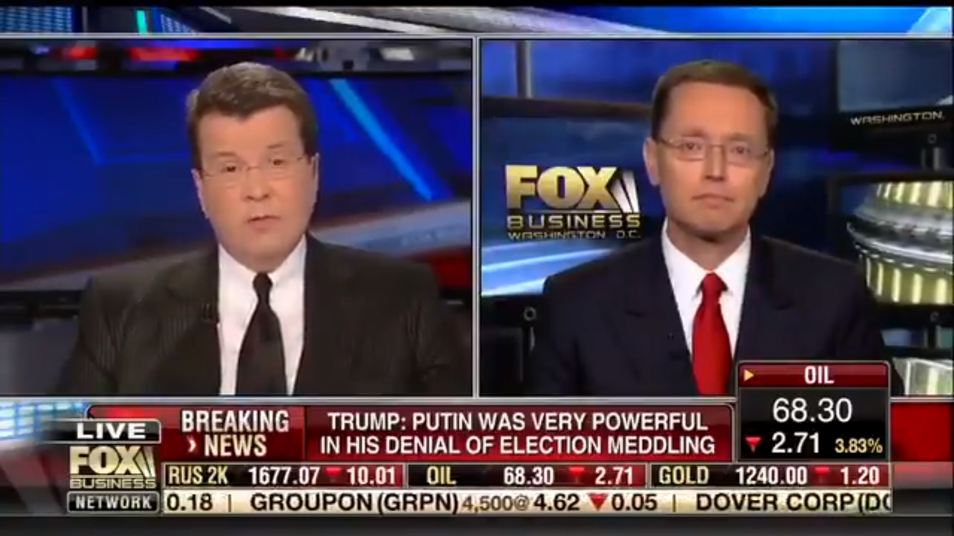 Fox's Neil Cavuto: Trump's Performance At Putin Presser 'Disgusting,' It 'Sets Us Back A Lot'
