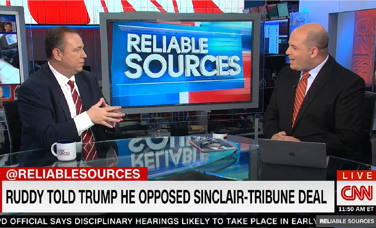 Trump Buddy Chris Ruddy Begs CNN's Stelter To Devote A Show To Boasting About Trump's Successes