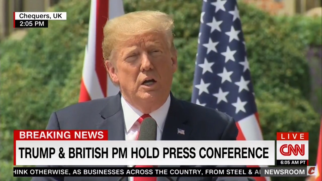 Trump Claims His Interview Where He Criticized Theresa May Is 'Fake News'