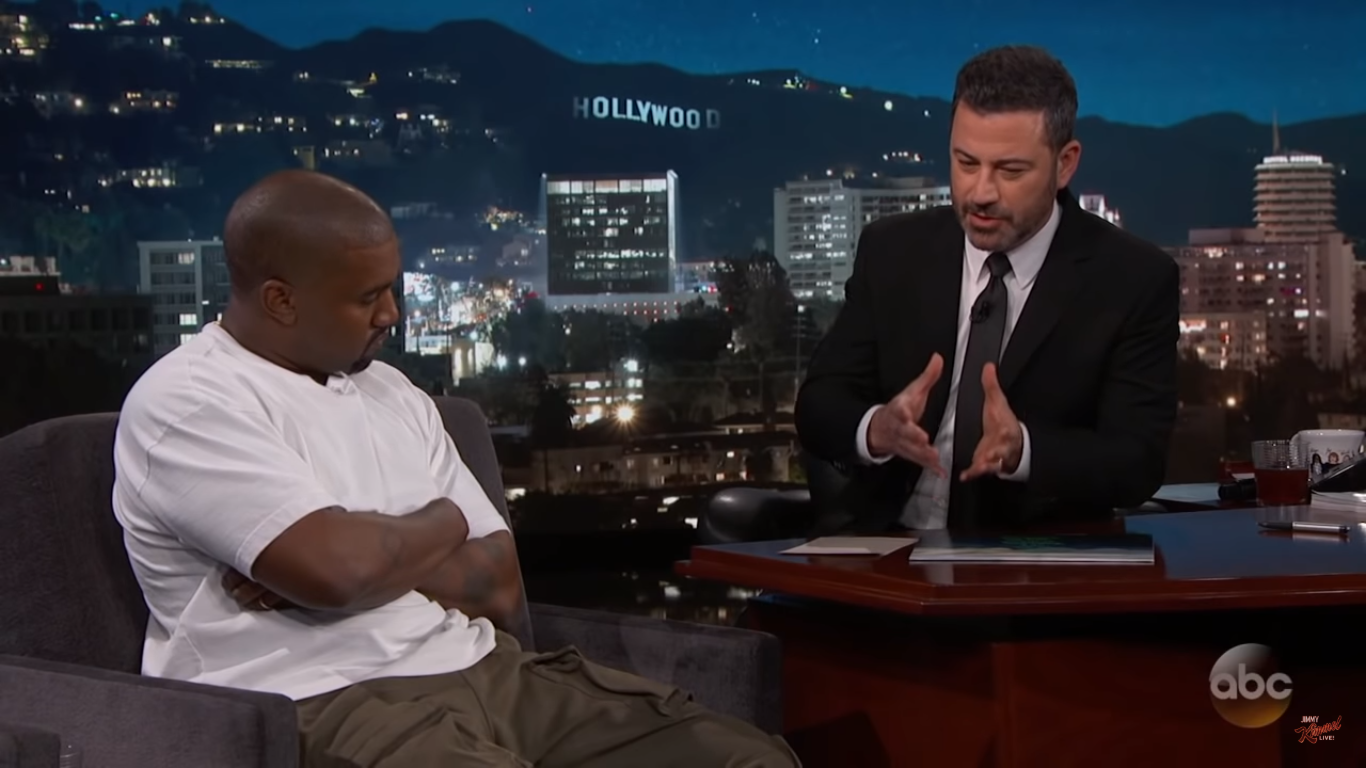 Jimmy Kimmel's Question Leaves Kanye West Speechless: Does Trump Care About Black People?
