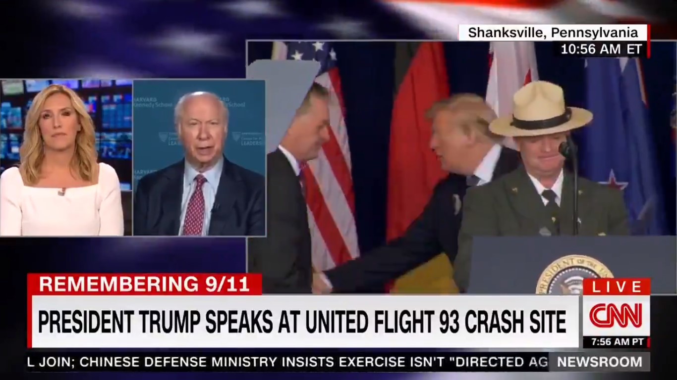 CNN's David Gergen Heaps Praise On Trump For 9/11 Speech: 'Very Thoughtful,' 'Easily One Of His Best'