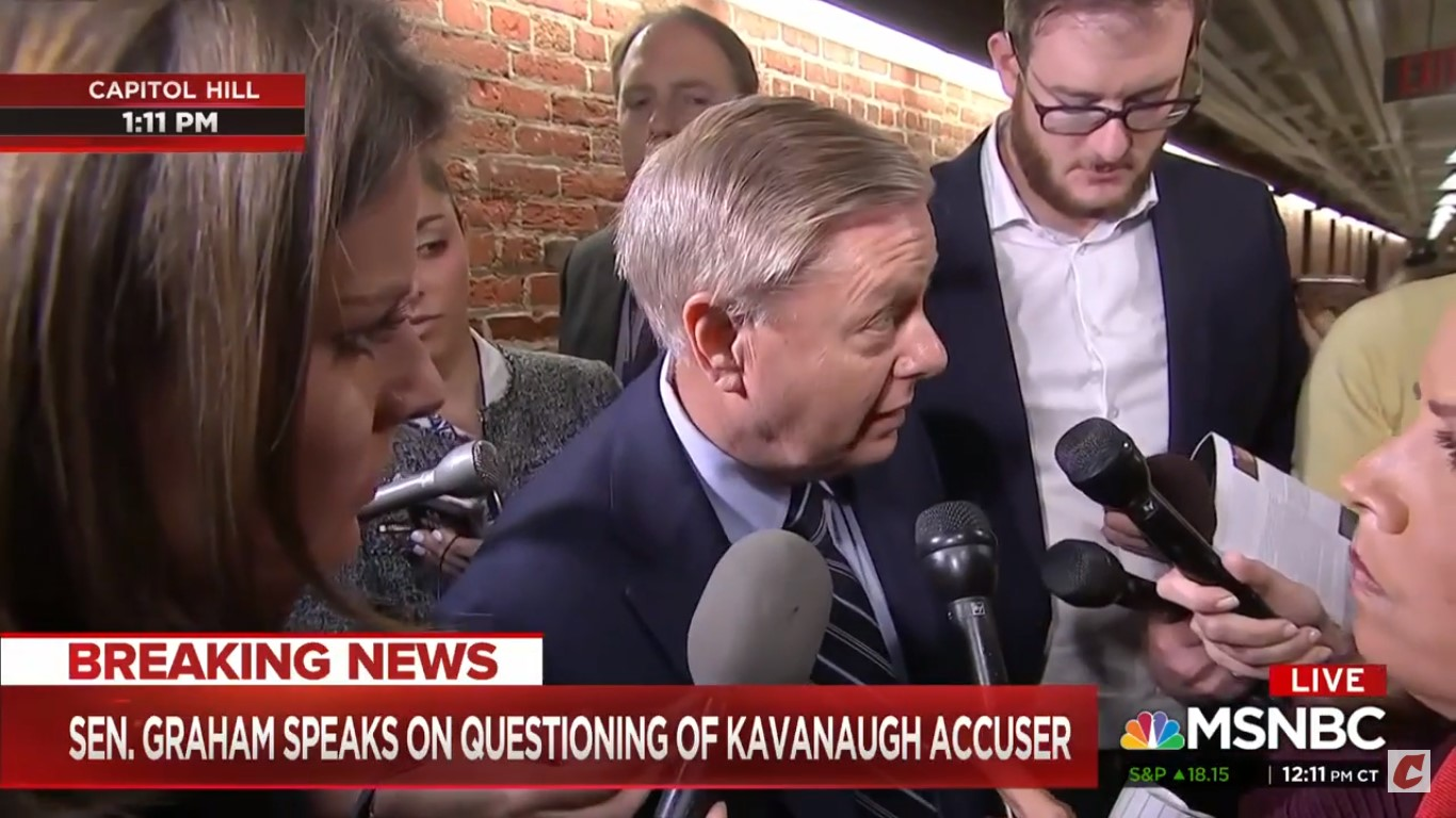 Lindsey Graham To Woman Who Says She Was Raped: 'I'm Sorry. Tell The Cops'