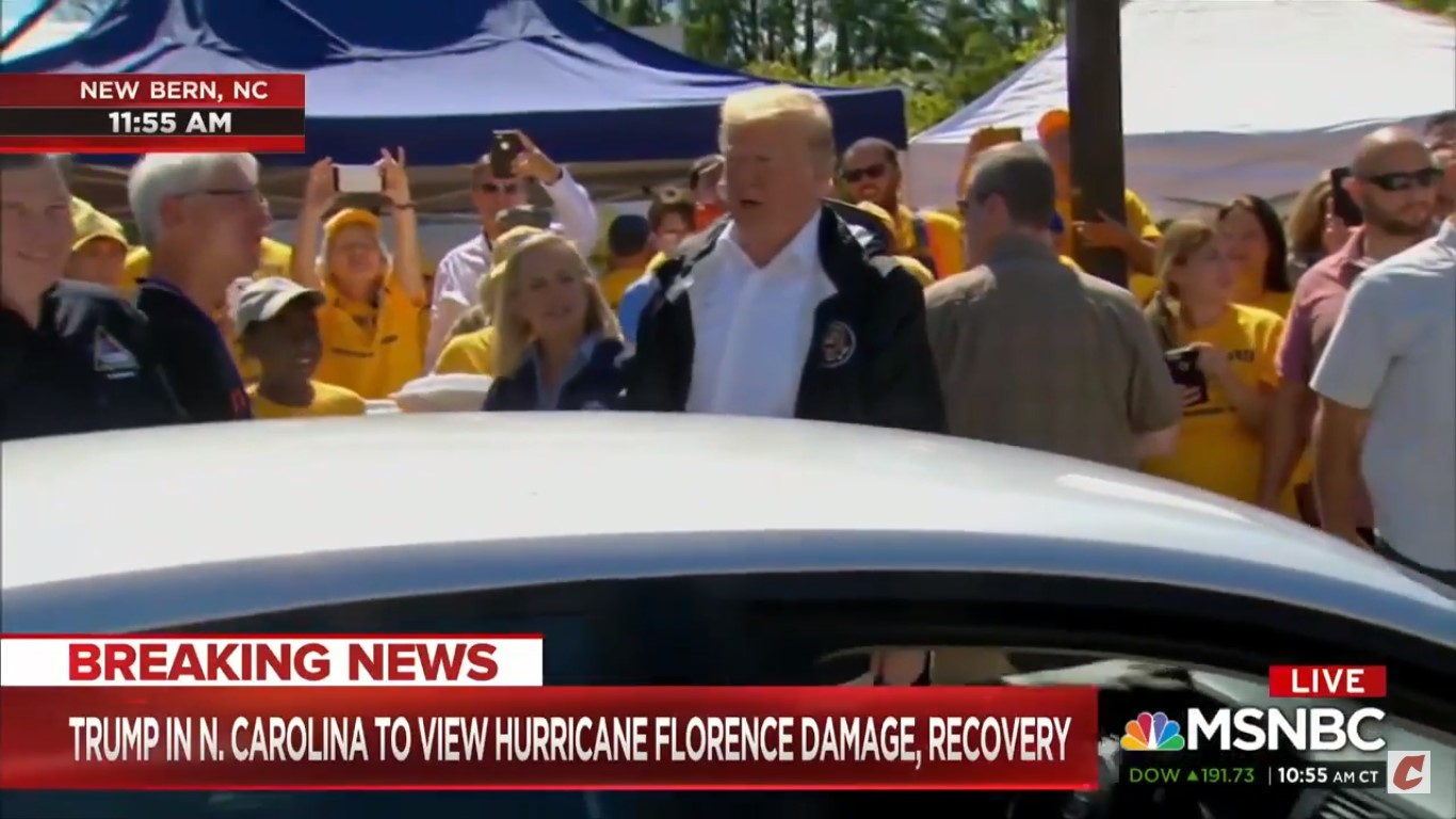 WATCH: Trump Tells Hurricane Florence Victims To 'Have A Good Time'