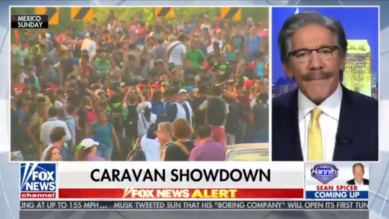 Geraldo Rivera Confronts Hannity On Migrant Caravan: 'Are You Gonna Shoot 'Em, Sean?'