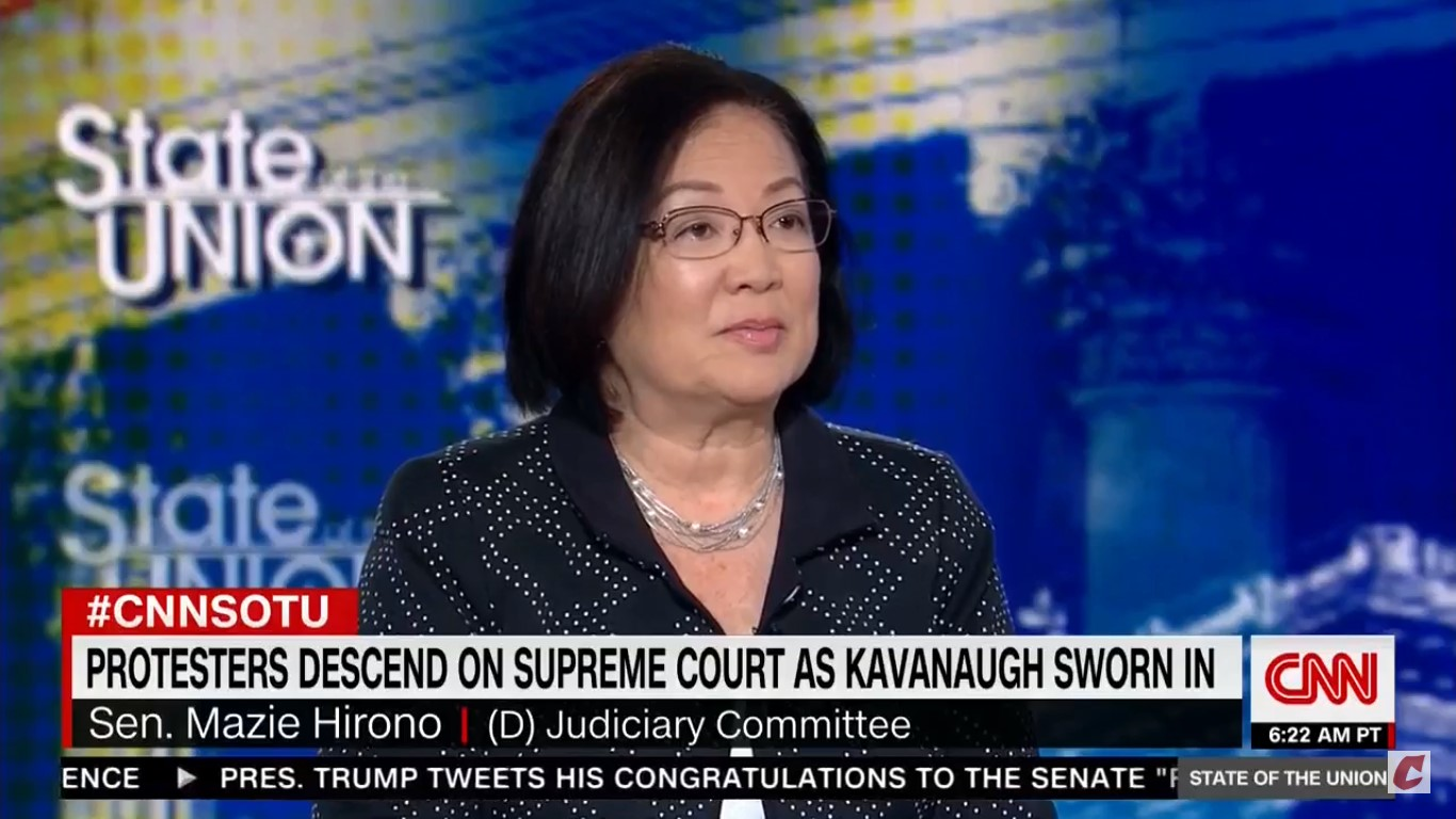 Mazie Hirono: It's 'Insulting' For Susan Collins To Say Christine Ford Is Mistaken On Kavanaugh