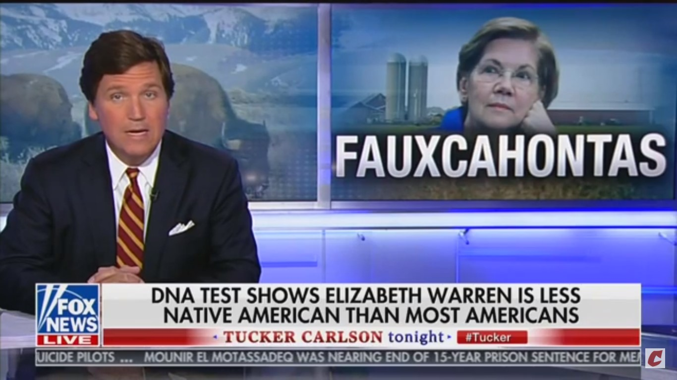 'Fauxcahontas': Tucker Carlson Repeatedly Mocks Elizabeth Warren Over Heritage Claims