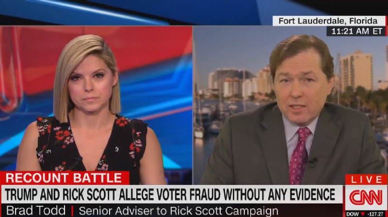 Rick Scott Adviser Won't Refute Trump's Claim That People Voted Multiple Times: 'I Wasn't In Florida On Election Day'
