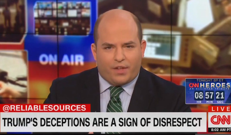 CNN's Brian Stelter: When Media Repeats Trump's Lies Uncorrected, 'We Just Make A Bad Situation Worse'