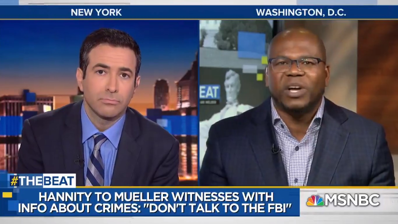 'He's Just As Dirty And Guilty!' MSNBC Contributor On Hannity Telling Mueller Witnesses To Not Talk To FBI