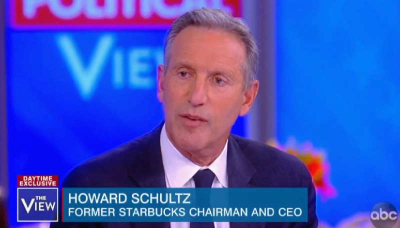 Howard Schultz Praises Article That Calls Kamala Harris 'Shrill' And Elizabeth Warren 'Fauxcahontas'