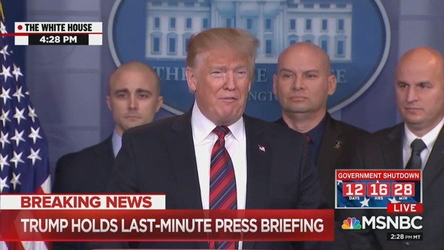 Trump Pulls Fast One, Doesn't Take Any Questions At Last-Minute White House 'Press Briefing'