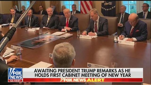 Trump Brings Poster Of 'Game Of Thrones' Tweet To First Cabinet Meeting Of 2019