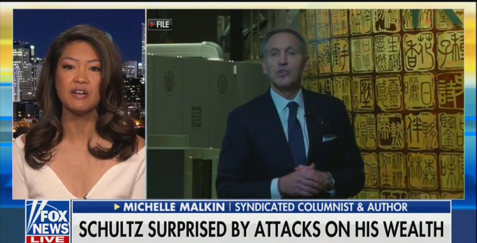 Michelle Malkin: Howard Schultz Will Be Eaten Alive By Progressive Democrats