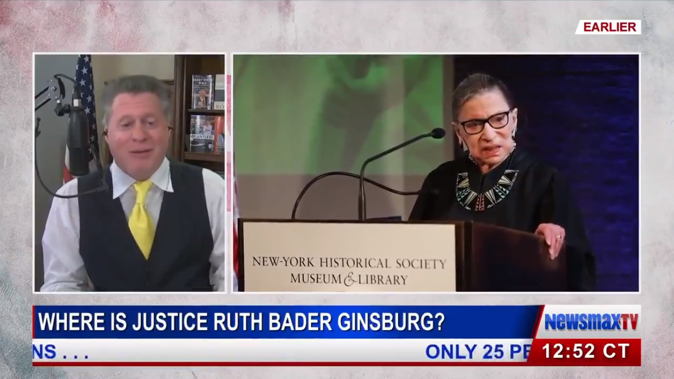 Pro-Trump Radio Host Asks 'Is Ruth Bader Ginsburg Even Alive?,' Invokes 'Weekend At Bernie's'
