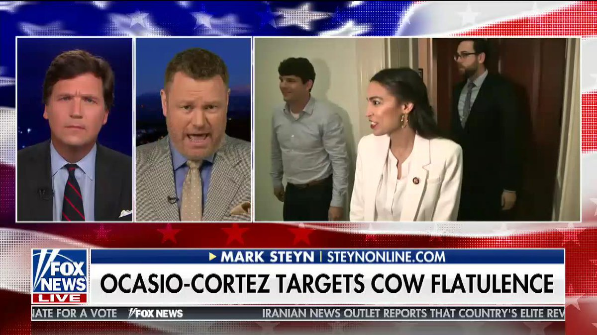 Tucker Carlson and Guest Complain That AOC Is Targeting 'Cow Flatulence'