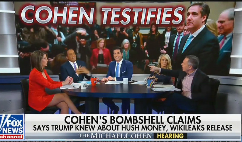 Fox's Greg Gutfeld Blows Up at Juan Williams Over Cohen Hearing: 'I'm Going to Throw You Off the Set!'