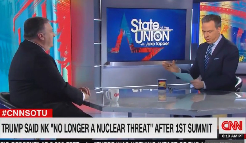 Tapper Calls Out Pompeo Over Trump's Claim That North Korea Is No Longer a Nuclear Threat