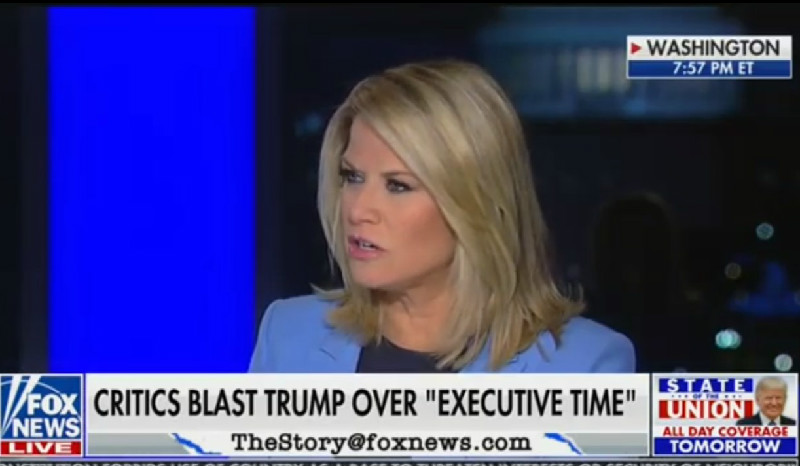 Fox News' Martha MacCallum: Trump's Executive Time 'Sounds A Lot Like Work'