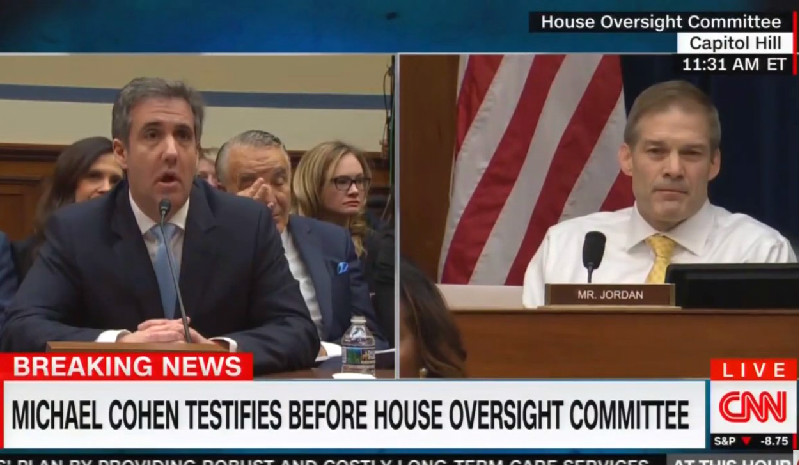 Michael Cohen Snaps Back at Jim Jordan During Testy Exchange: 'Shame on You!'