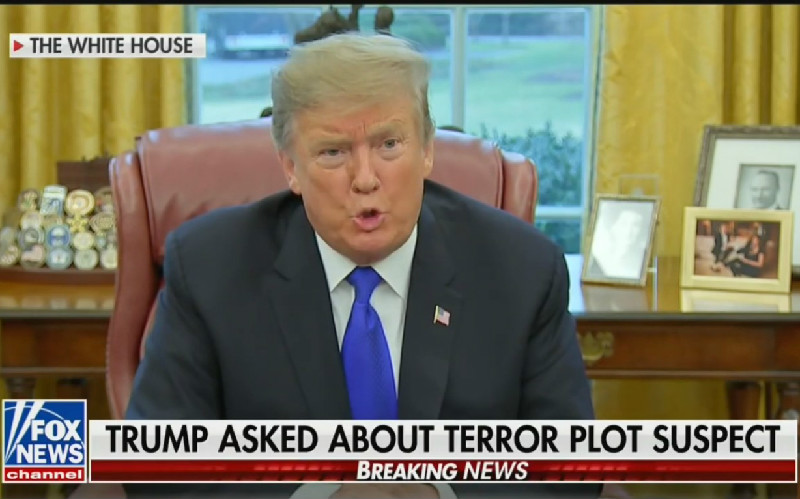Trump Attacks 'Fake News Media' Over Suggestions His Coddling of White Supremacy Contributed to Massacre