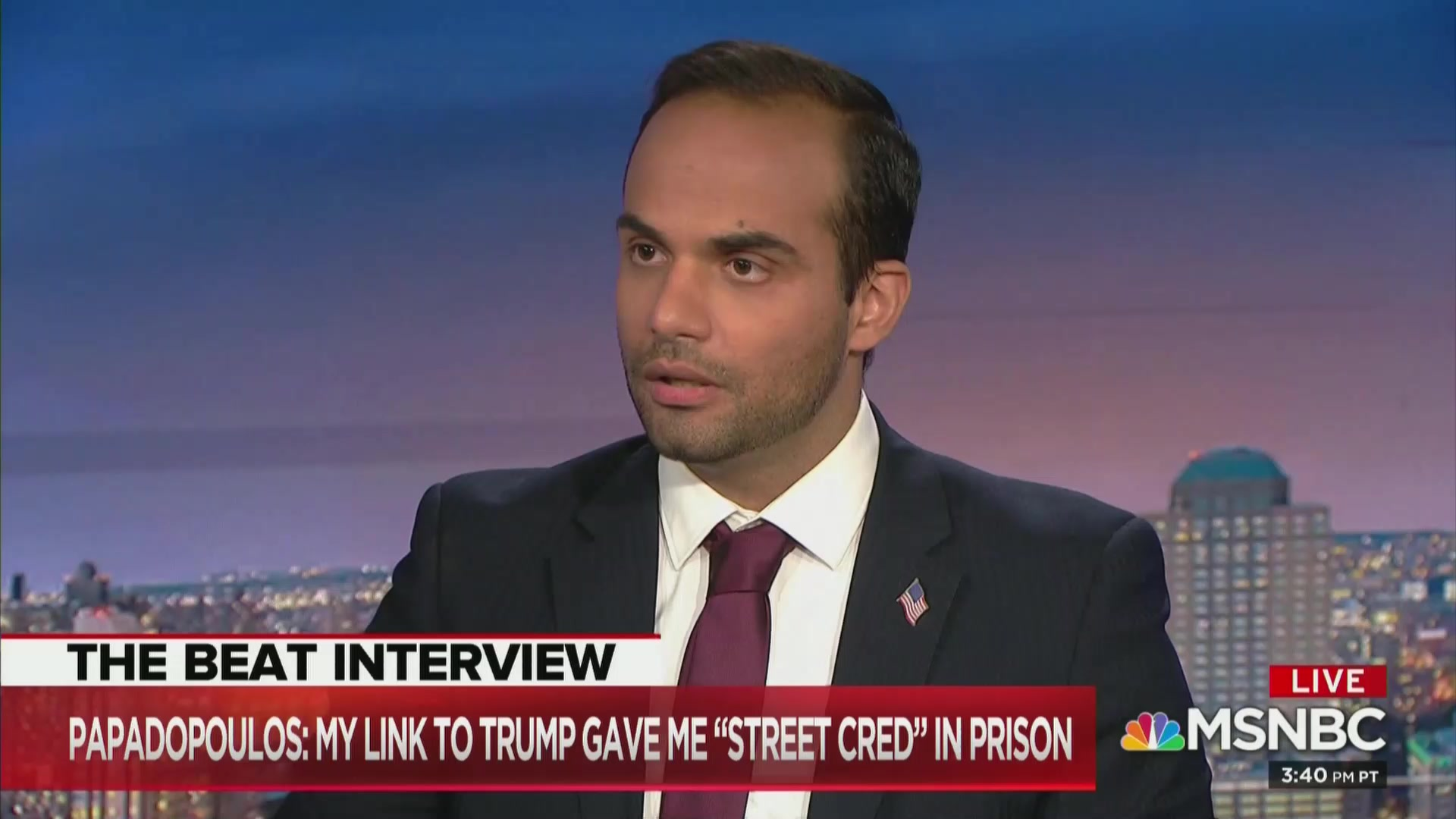 George Papadopoulos: I Had 'Street Cred' In Prison Because It Was 'Trump Country'