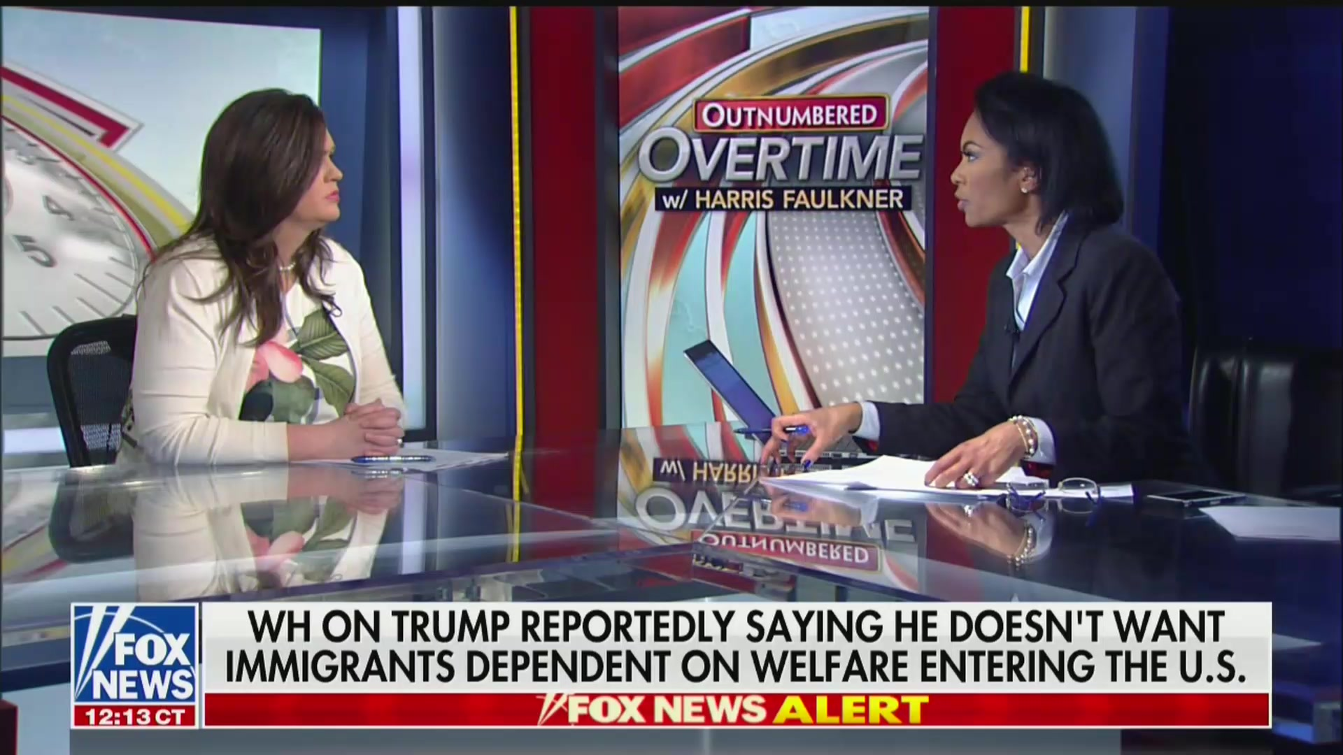Fox's Harris Faulkner Grills Sarah Sanders: Is Trump Saying Only Rich Immigrants Can Come To America?